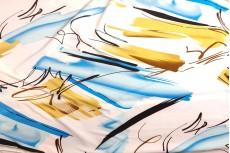 Трикотаж микромасло Gold-Blue