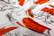 Трикотаж микромасло Grey-Red