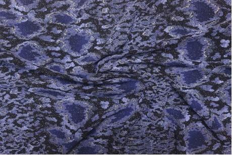 Трикотаж люрекс Flower-blue