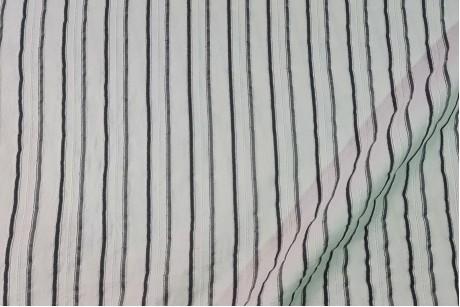 Коттон стрейч Striped-Black
