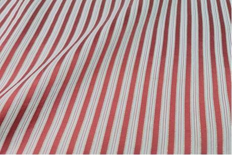 Коттон стрейч Striped-Red