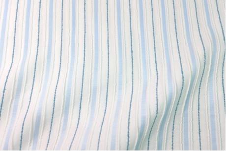 Коттон стрейч Striped-Light-Blue